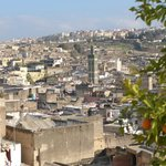 view over Fes Medina, from terrace Rcif