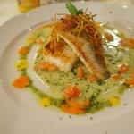 Sturgeon fish dish