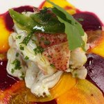 Carpaccio of beets and lobster-Sotto Sopra Restaurant