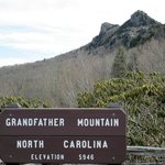 The summit of Grandfather Mountain & altitude sign