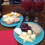 Sangria and cheese plates