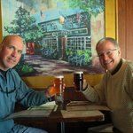 the author (right) & his brother Phil at the Six Pence