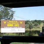 Entrée du parc Kruger à proximité du camp