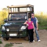 Un des véhicules utilité pour la visite du parc