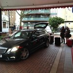 our private transfer to airport arranged by hotel