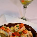 Seafood Stuffed Mushroom Caps & own of our Fabulous Martinis