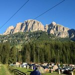 Camping Colfosco from trail to town