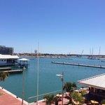 Hafen-Blick von der Lobby Terrasse