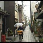nice street of the ryokan