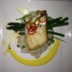 Sea Bass at the Hilton Restaurant