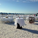 Business Meeting on the Beach at the Hilton