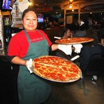 Sandra and Leti make great pizzas at Giorgio's