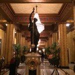 Ornate clock in lobby