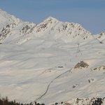 Corviglia ski station and Piz Nair