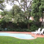 Rosebank Lodge pool and garden