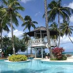 The beach pool and swim-up bar