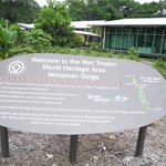 Sign at visitors center