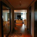 Hallway looking into living room