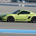 On track in the Cayman R.. best lap was 59.x seconds