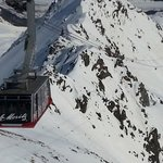 Cable-car from Corviglia to Piz Nair