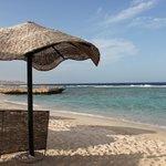 la plage à l'abri des parasol