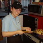 Freshly made pizzas made to order