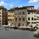 Palazzo Uguccioni from the Uffizi rooftop cafe.