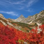 天狗平から見た紅葉時期の槍ヶ岳