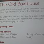 opening times not adhered to