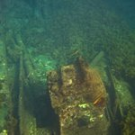 Navio Eleani Stathatos - encalhando no Porto em 1929, terminando de submergir em 1946.