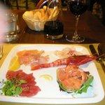 Venetian raw fish platter