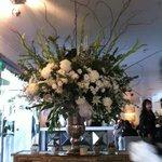 Stunning flower arrangement at entrance