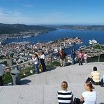 View over Bergen city