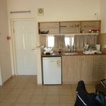 front door, kitchenette
