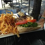 Fish sandwich with fabulous fries!