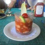 cocktail de crevettes (bord de mer)