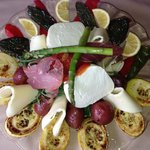Grilled veggies and mozzarella