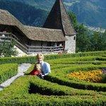 beautiful garden maze of Greyere Castle