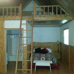 Has full size bead and loft with 2 twin beds