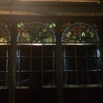 The stained glass windows from outisde