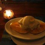 Mango with Vanilla ice cream