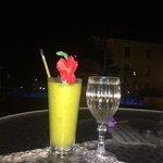 Pre-dinner drinks by the pool