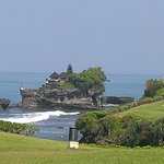 View of Tanah Lot Temple from restaurant
