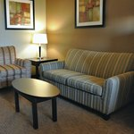 Chair and hide-a-bed sofa in our king suite.
