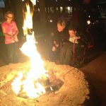 fun at one of the many fire pits