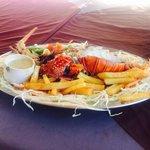Very tasty lobster and sauce! Лобстера заказывали за день, приготовлен был ровно в назначенное в