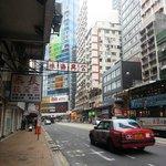 Street nearby Hotel