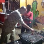 Chef Alois - with the braai on our 9th birthday