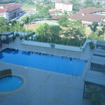 Pool view from room 915