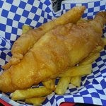Regular size order of fish and chips